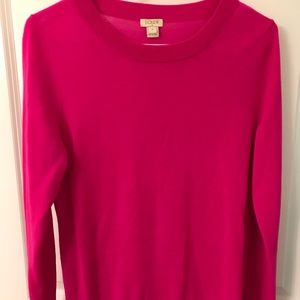 J. Crew Hot Pink Sweater